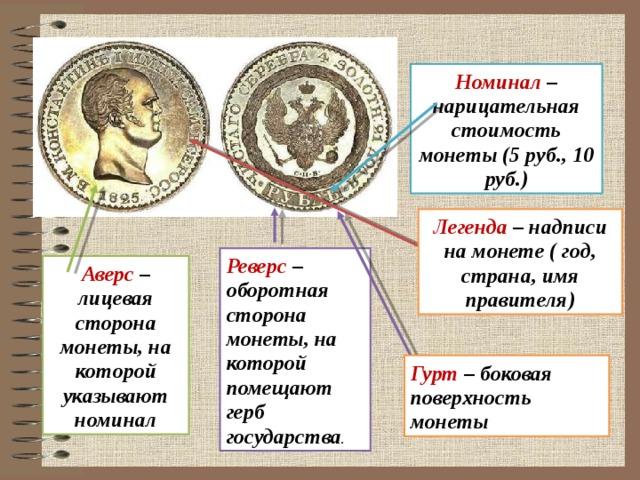 Легенда монеты